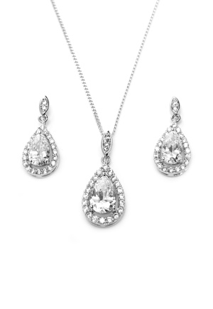 Ivory & Co Belmont Pendant Set Silver One size