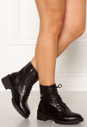 Bianco Claire Laced-Up Boots Black 36