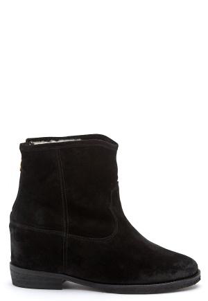 Billi Bi Black Suede Boots Black 36