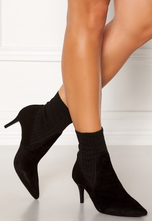 Billi Bi Suede Stretch Boots Black 38