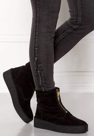 Billi Bi Black Suede/Gold Boots Black 39