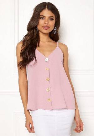 Blue Vanilla Button Front Cami Top Blush S