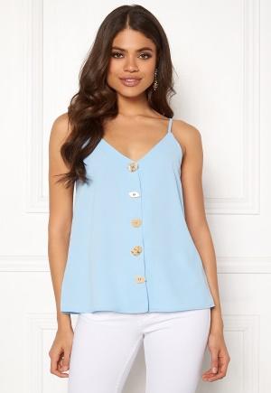 Blue Vanilla Button Front Cami Top Pale Blue L