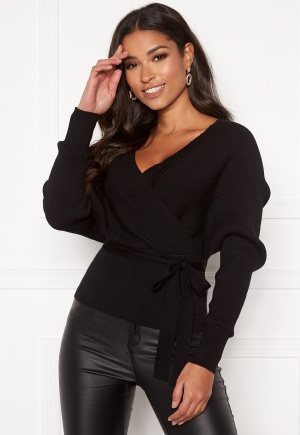 Blue Vanilla Double V Rib Jumper Black L (UK14)