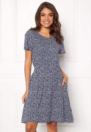 Boomerang Amira Printed Dress Midnight Blue L