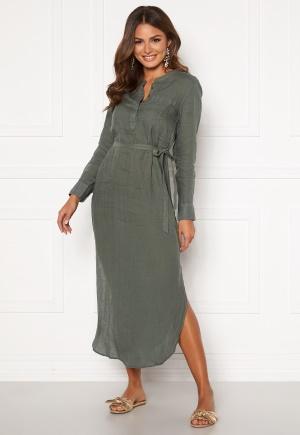 Boomerang Båstad Linen Dress Venetian Green 34