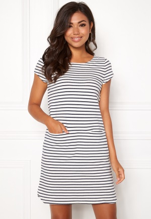 Boomerang Millie Striped Dress Offwhite L