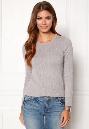 Boomerang Poppa Cable Sweater Lt grey melar L