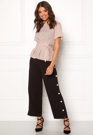 BUBBLEROOM Alexa button trousers Black / White 34