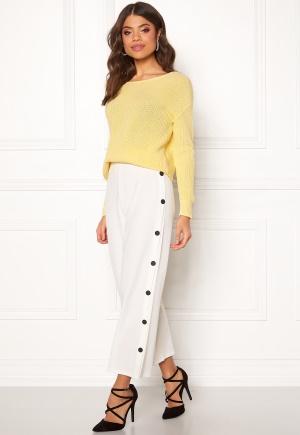 BUBBLEROOM Alexa button trousers White / Black 42