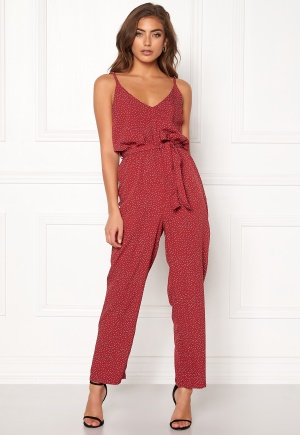 BUBBLEROOM Amal jumpsuit Red / White / Dotted 40