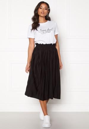 BUBBLEROOM Anna midi pleated skirt Black L