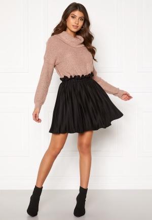 BUBBLEROOM Anna short pleated skirt Black M