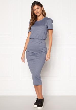 BUBBLEROOM Besa short sleeve dress Dusty blue M