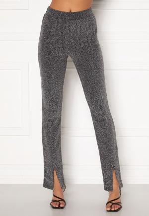BUBBLEROOM Bonita sparkling slit leggings Black / Silver M