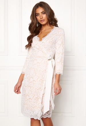 BUBBLEROOM  Carolina Gynning lace wrap dress  XS