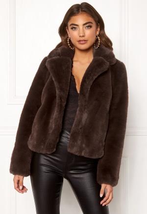 BUBBLEROOM Claudia faux fur jacket Brown 38