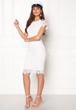 BUBBLEROOM Flora lace dress White 42