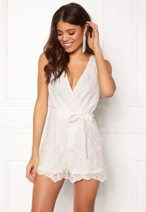 BUBBLEROOM Hazel playsuit White 34