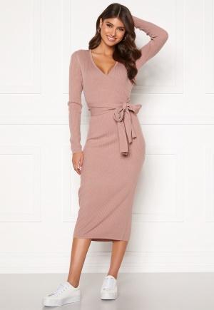 BUBBLEROOM Ines knitted dress Dark dusty pink XL