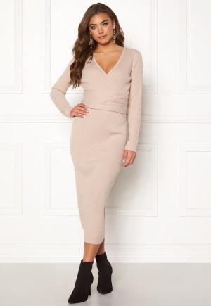 BUBBLEROOM Ines knitted dress Light beige M