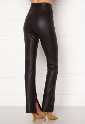 BUBBLEROOM Iza PU slit leggings Black L