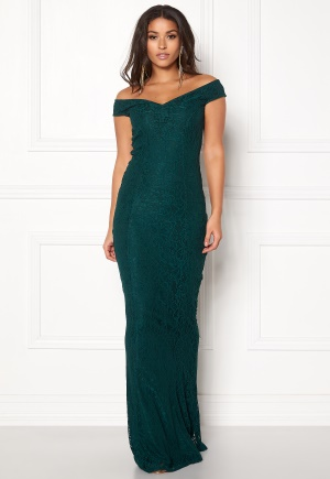 BUBBLEROOM Jennifer lace dress Dark green 34