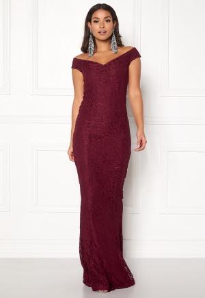 BUBBLEROOM Jennifer lace dress Dark red 34