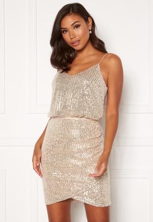 BUBBLEROOM Kira sparkling singlet Champagne / Silver XL