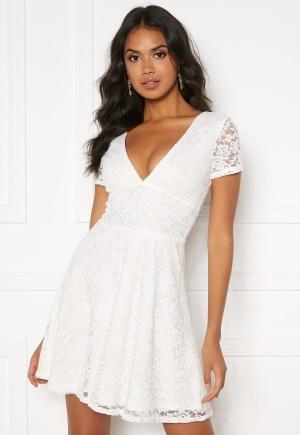 BUBBLEROOM Lexi lace dress White 32