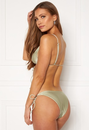 BUBBLEROOM Lora thin strappy bikini bottom Dusty green L