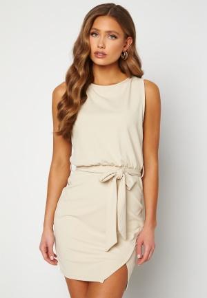 BUBBLEROOM Lorna short sleeve dress Beige 40