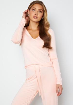 BUBBLEROOM Lynne long sleeve pyjama top Light pink M