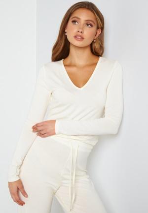 BUBBLEROOM Lynne long sleeve pyjama top Offwhite S