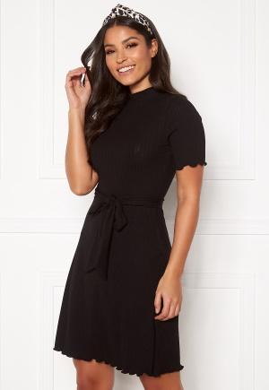 BUBBLEROOM Marta belted dress Black S