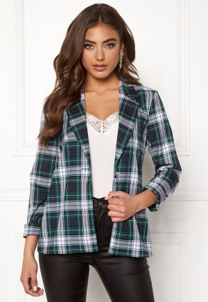 BUBBLEROOM Melina blazer Green / Checked 38