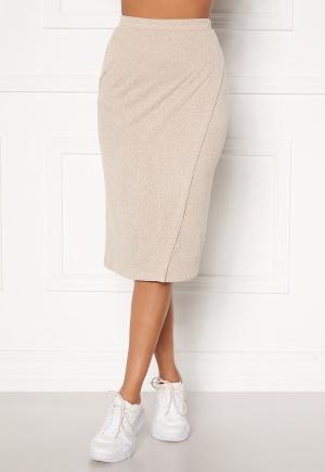 BUBBLEROOM Melvina fine knitted skirt Beige XS