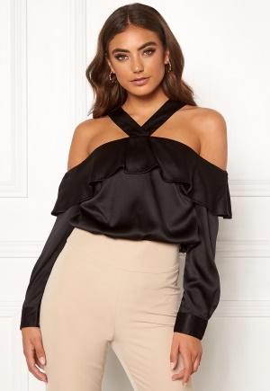 Moa Mattsson X Bubbleroom Buttoned off shoulder blouse Black 34