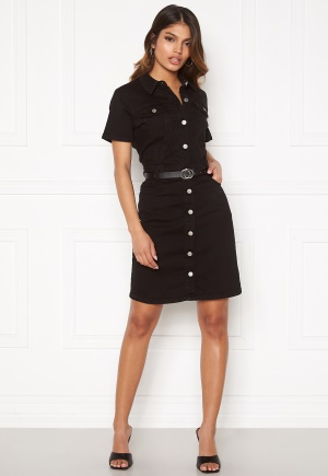 BUBBLEROOM Odina denim dress Black 38