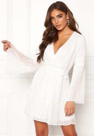 BUBBLEROOM Paulinn pleated dress White 40