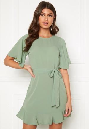 BUBBLEROOM Rhia dress Dusty green 34