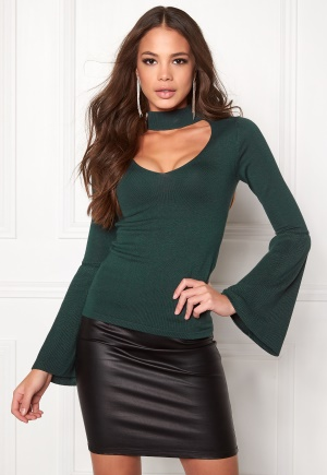 BUBBLEROOM Rouge knitted sweater Dark green XS thumbnail