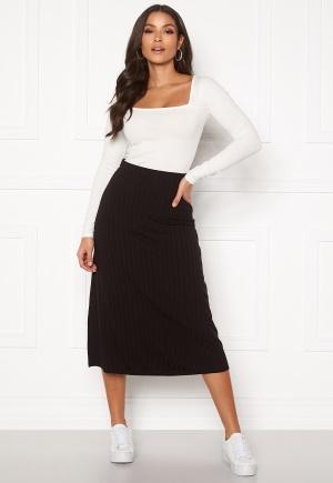 BUBBLEROOM Roxanne rib skirt Black XS