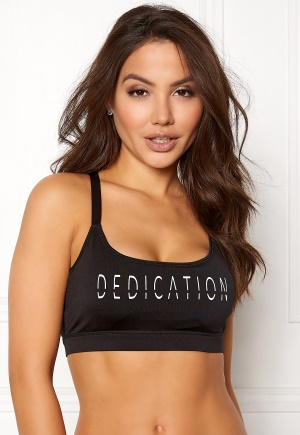 BUBBLEROOM SPORT Boobilicious sports bra Black / White / Text XS
