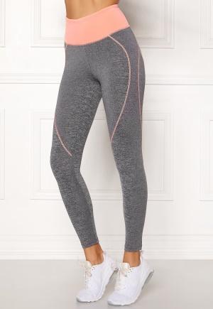 BUBBLEROOM SPORT Bubble butt sport tights Grey melange / Peach L