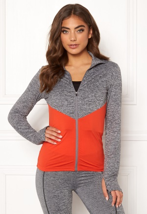 BUBBLEROOM SPORT Burpees then slurpees sport jacket Grey melange / Red M