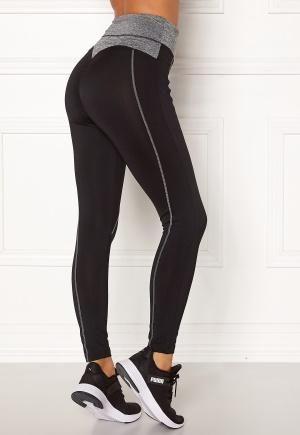 BUBBLEROOM SPORT Butt sport tights Black / Grey melange L