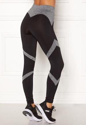 BUBBLEROOM SPORT Fierce sport tights Black / Grey melange XS