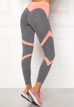 BUBBLEROOM SPORT Fierce Sport Tights Dark grey melange / Apricote XS