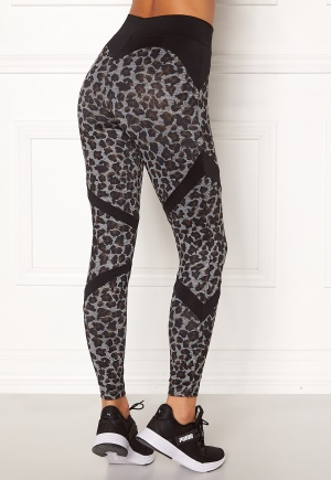 BUBBLEROOM SPORT Fierce sport tights Leopard / Black S